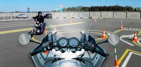 Вождение на мотоцикле для получениея прав