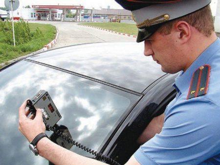 Проверка инспектором ГИБДД