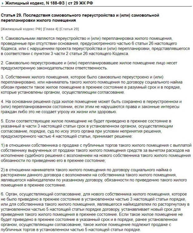 Статья 29 ЖК РФ